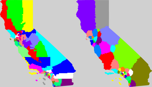 Olson redistricting of CA